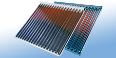 Thermal solar evacuated tubes CPC